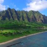 【映画ジュラシックパークで有名】ハワイ・クアロアランチ(クアロアビーチ)をドローンで空撮してみた!