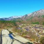 世界遺産・白川郷の合掌造り集落を空撮してきた!&有名な蕎麦屋【脇本】行ってきました