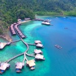 【マレーシア絶景】コタキナバルのガヤ島・水上コテージドローン空撮