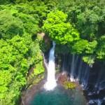 【静岡の白糸の滝】迫力のある源流をドローン空撮で!