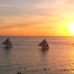 【アジアベストビーチ】ボラカイ島ホワイトビーチと美しいサンセットドローン空撮Boracay Island