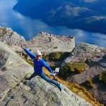 【リーセフィヨルド×ドローン空撮】アナと雪の女王の舞台!山頂の崖からの眺めは絶景!