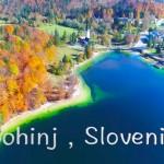 【Bohinj Slovenia Drone4Kスロベニアボーヒン湖の雲海紅葉ドローン空撮】